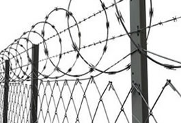 Aluminized Steel Fencing System with Concertina Wire
